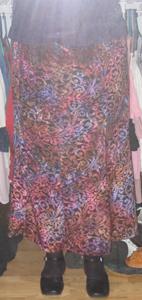 long gored skirt