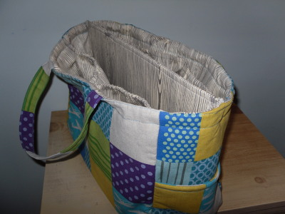 Knitting bag : Amy Butler fabric | By Number 19